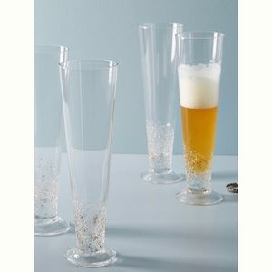Anthropologie Beer Glass Set-NIB-Volcania